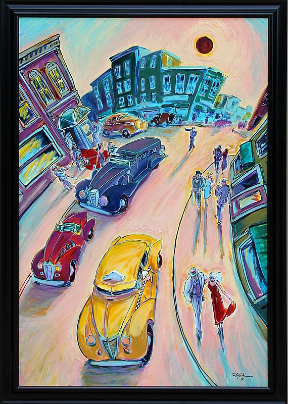 R.J. Hohimer, Taxi, Oil Painting