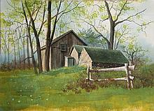James Feriola, Spring Farm, Watercolor Painting