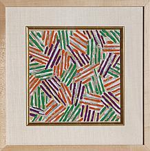 Jasper Johns, Crosshatch (ULAE S.13), Screenprint