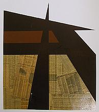 Ray Elman, Paper Foundations, Serigraph with Collage