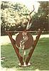 Ann Bavar, Circles Plus Mirror, Steel and Mirror Sculpture