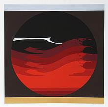 Thomas W. Benton, Gate Series Red, Silkscreen