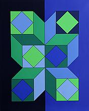 Victor Vasarely, VY-29-C from Album Xico, Serigraph