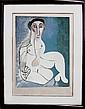 Pablo Picasso, Femme Nue Assise dans L'Herbe, Lithograph