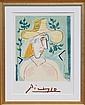 Pablo Picasso, Femme a la Collerette, Lithograph