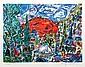 Amos Yaskil, Sunrise Over Jerusalem, Lithograph