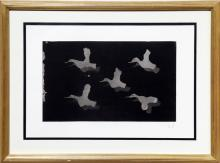 Five Birds in Flight, Etching
