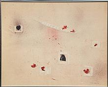 Roger Selden, untitled 2 (Hearts) Ink and Acrylic Painting