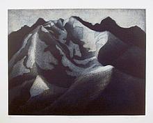 Jan Hildebrand Carlile, Red Mountain from Brooklyn College Women's Portfolio, Etching