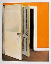 Lois Dodd, Open Door from Brooklyn College Women's Portfolio, Aquatint Etching