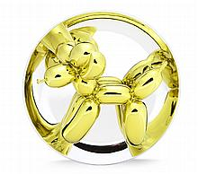 Jeff Koons, Balloon Dog (Yellow) Porcelain Sculpture with Mirror Finish