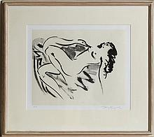 Reuben Nakian, Leda and the Swan - 8, Etching and Chine Colle