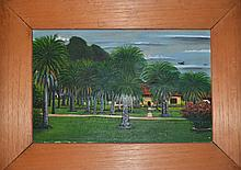 Jose Antonio Velasquez, Plantation, Oil Painting