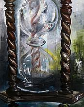 Bernhard Martin, Hourglass, Oil Painting
