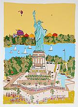 Susan Pear Meisel, Statue of Liberty, Screenprint
