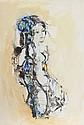 Madeleine Scellier, Nude Portrait 3, Watercolor