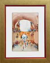 Ben Avram, Walled Streets, Watercolor