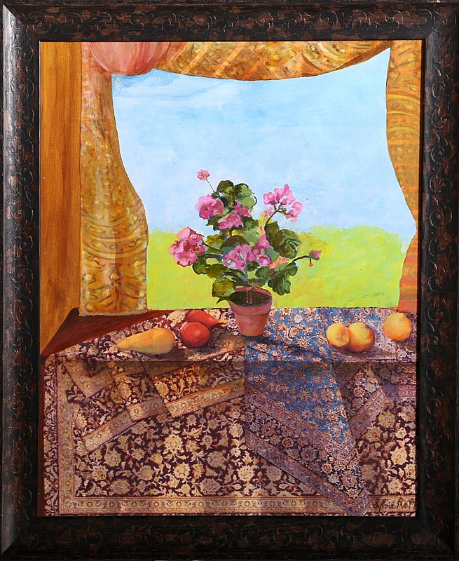 Sylvia Roth, Still Life with Persian Rug, Oil Painting