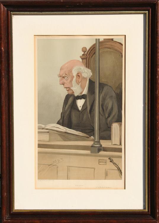 Leslie Matthew Ward, Spy, Bow Street, Lithograph