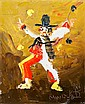 Morris Katz, Clown, Oil Painting