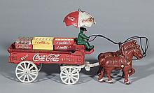 Vintage cast iron ''Coca-Cola'' wagon