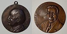 2 Bronze relief medallions