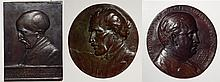 3 Bronze relief plaques and medallion