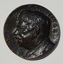 Mahonri Young bronze relief medallion