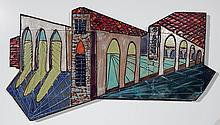 Attib. to Harris Strong ceramic wall plaque