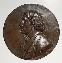Albert Toft bronze relief medallion