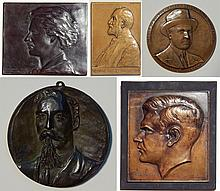5 Bronze plaques and medallion