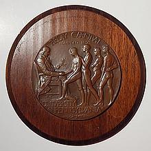 Robert Tait MacKenzie bronze relief medallion