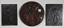 Anna Coleman Ladd 2 bronze plaques and 1 medallion