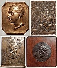 4 Bronze relief medallion and plaques