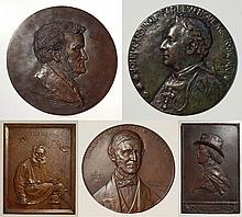 5 Bronze relief medallions and plaques