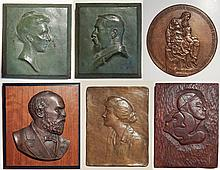 5 plaques and medallion