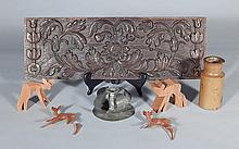 Late 17th c. European carved panel, etc.