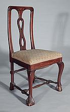 Miniature Queen Anne style child's chair