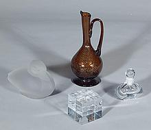 4 glass pieces - Orrefors, Leerdam, Mexican