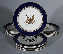 18 Homer Laughlin Presidential dinner plates