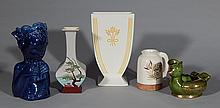 5 Pieces of Mid-Century Modern pottery