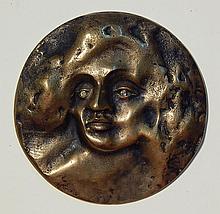 Ken Treister bronze relief medallion