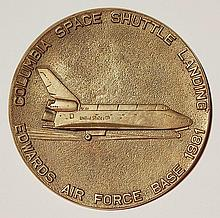 20th c. American commemorate brass plaque