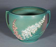 Roseville Pottery Foxglove green jardinere