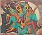 David Burke woodblock in colors