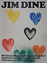 after Jim Dine lithographic poster