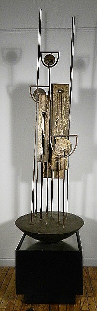 John Clague steel and bronze sculpture