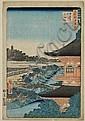 Ando Hiroshige- ''Pagoda of Zojoji [Temple]
