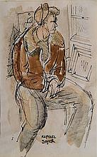 Raphael Soyer watercolor
