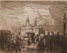 Sir Frank Brangwyn etching
